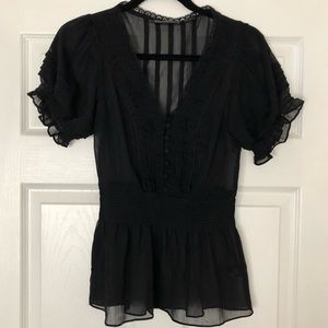 Black Guess Jeans Top